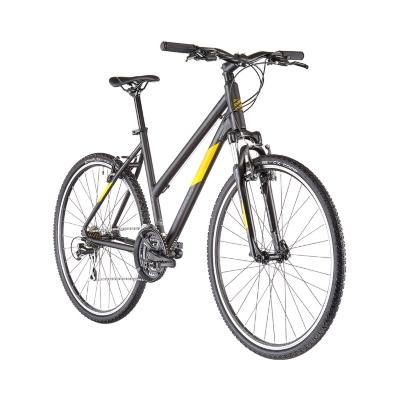 Serious Cedar Trapeze Musta Keltainen naisten pyörä