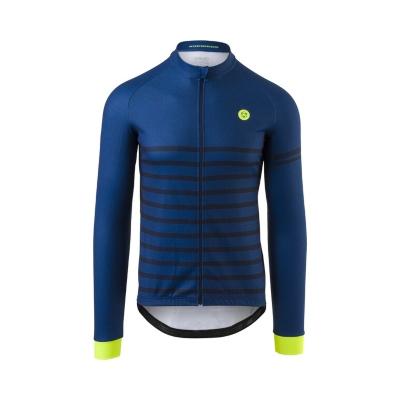 Agu Essential Melange Ls Jersey Sininen Pitkähihainen pyöräilypaita